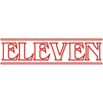 Eleven Stranger Things Title by charlie-