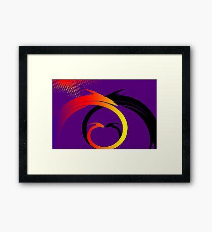 Swirls Faceoff v1 Framed Print