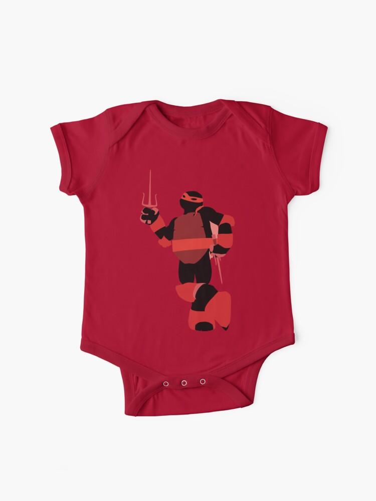 Tmnt Silhouettes Raphael 2012 Baby One Piece By Miztak Redbubble
