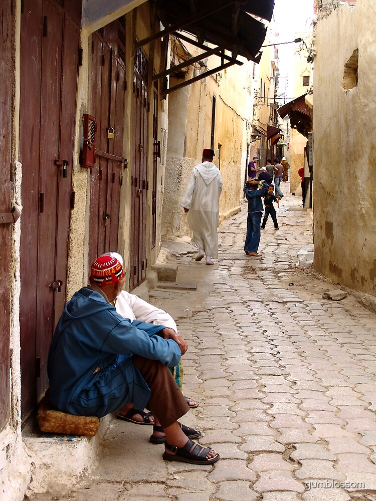 Locals in the Kasbah, Rabat, Morocco by gumblossom