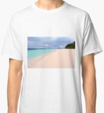 Beautiful beach with clear blue water in Maldives Classic T-Shirt
