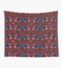 Topiary Red Wall Tapestry