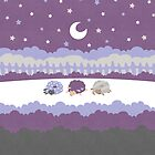 Sleepy Sheep Lavender by Holly Bender