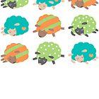 Sleepy Sheep Jungle by Holly Bender