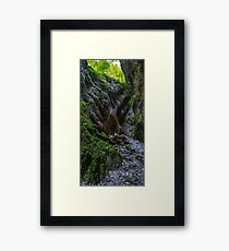 Panorama of Sighistel gorge in Romania Framed Print