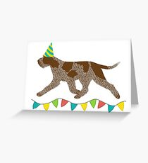 Italian Spinone (Brown Roan) Birthday Card Greeting Card