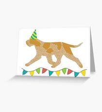 Italian Spinone (Orange Roan) Birthday Card Greeting Card