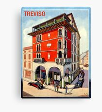 Treviso, Hotel, Italy, vintage travel poster Canvas Print