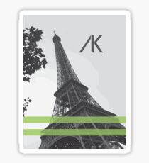 AK Paris Green Sticker