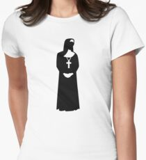 Nun woman Womens Fitted T-Shirt