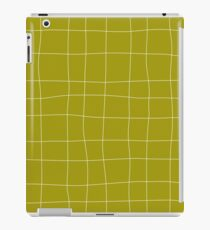Yellow and white check, square, plaid pattern iPad Case/Skin