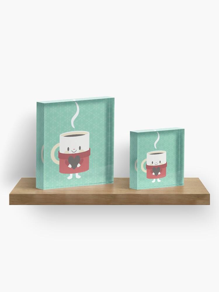 Alternate view of Cute hot cocoa mug Acrylic Block