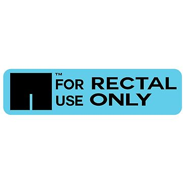 For rectal use only stickers by charlie-