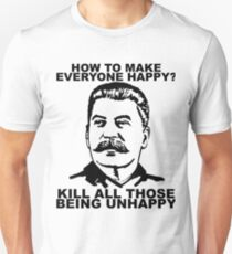 How to make Happy Joseph Stalin funny Unisex T-Shirt