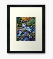 High resolution panorama of autumnal river landscape Framed Print