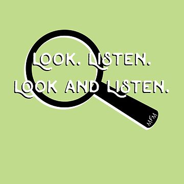 My Favorite Murder Podcast - Look. Listen. (Magnifying Glass) by bestbeast