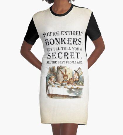 Alicia en el país de las maravillas - Tea Party - Estás completamente loco - Cita Vestido camiseta