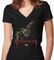 Fazbear's Fright: The Horror Attraction Women's Fitted V-Neck T-Shirt