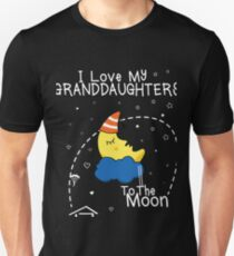 Love Grandaughters Love To The Moon Unisex T-Shirt