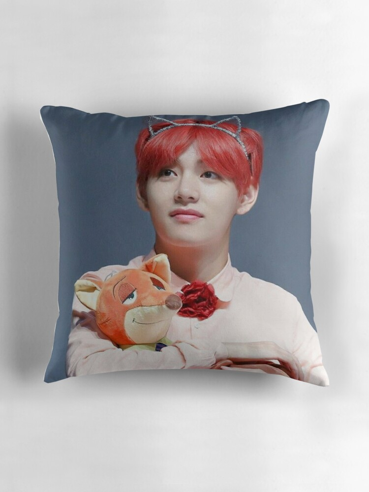 Quot Bts Kim Tae Hyung Quot Throw Pillows By Pookipsy Redbubble
