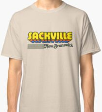 Sackville, New Brunswick | Retro Stripes Classic T-Shirt