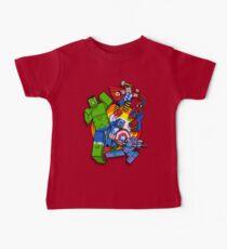 Cute Cube superheroes Group Baby Tee