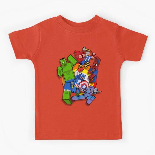 Cute Cube superheroes Group Kids T-Shirt