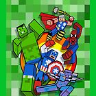 Cute Cube superheroes Group by Dadang Lugu Mara Perdana