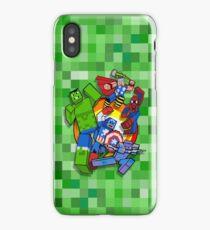Cute Cube superheroes Group iPhone Case/Skin