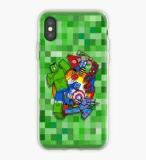 Cute Cube superheroes Group iPhone Case