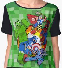 Cute Cube superheroes Group Chiffon Top
