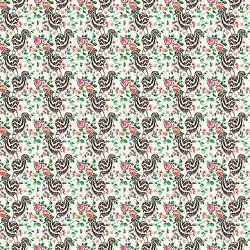 Wallpaper pattern design Bling Birds 10 Edouard Artus by EdouardArtus