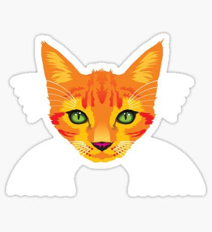 Orange Cat Check ME Out! Sticker