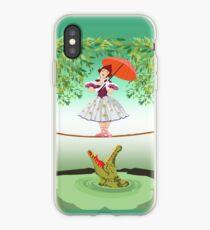 Cute halloween The crocodile girl Deadly circus iPhone Case