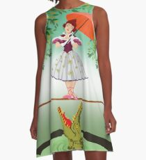 Cute halloween The crocodile girl Deadly circus A-Line Dress