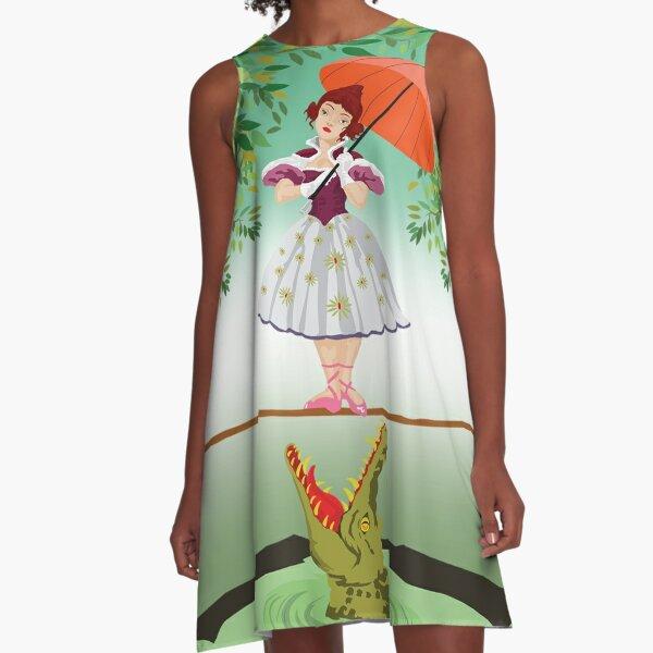 Cute halloween The crocodile girl Deadly circus A-Line Dress