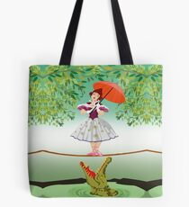 Cute halloween The crocodile girl Deadly circus Tote Bag