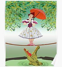 Cute halloween The crocodile girl Deadly circus Poster