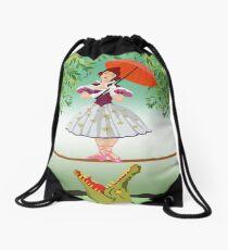 Cute halloween The crocodile girl Deadly circus Drawstring Bag