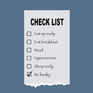 Your Check List by JingGu