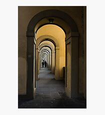 In a Distance - Vasari Corridor in Florence, Italy  Photographic Print