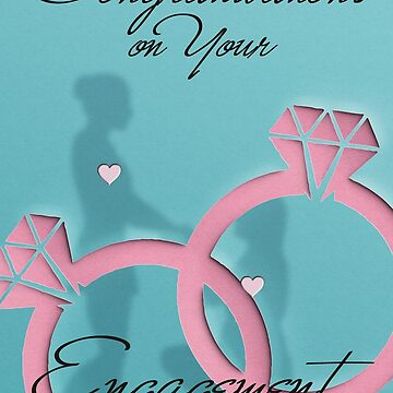 Congratulations - EnGAYgement - Female - Blank Card V3  by adamhills