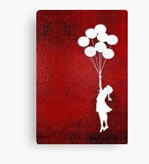The Balloons Girls Canvas Print
