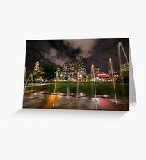 North End Park Fountains Boston MA Greeting Card