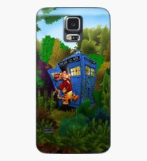 Doctor Tiger with Blue Phone Box Case/Skin for Samsung Galaxy