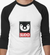 Linux Sudo Men's Baseball ¾ T-Shirt
