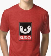 Linux Sudo Tri-blend T-Shirt