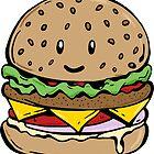 Hamburger sticker and print by Dewychan