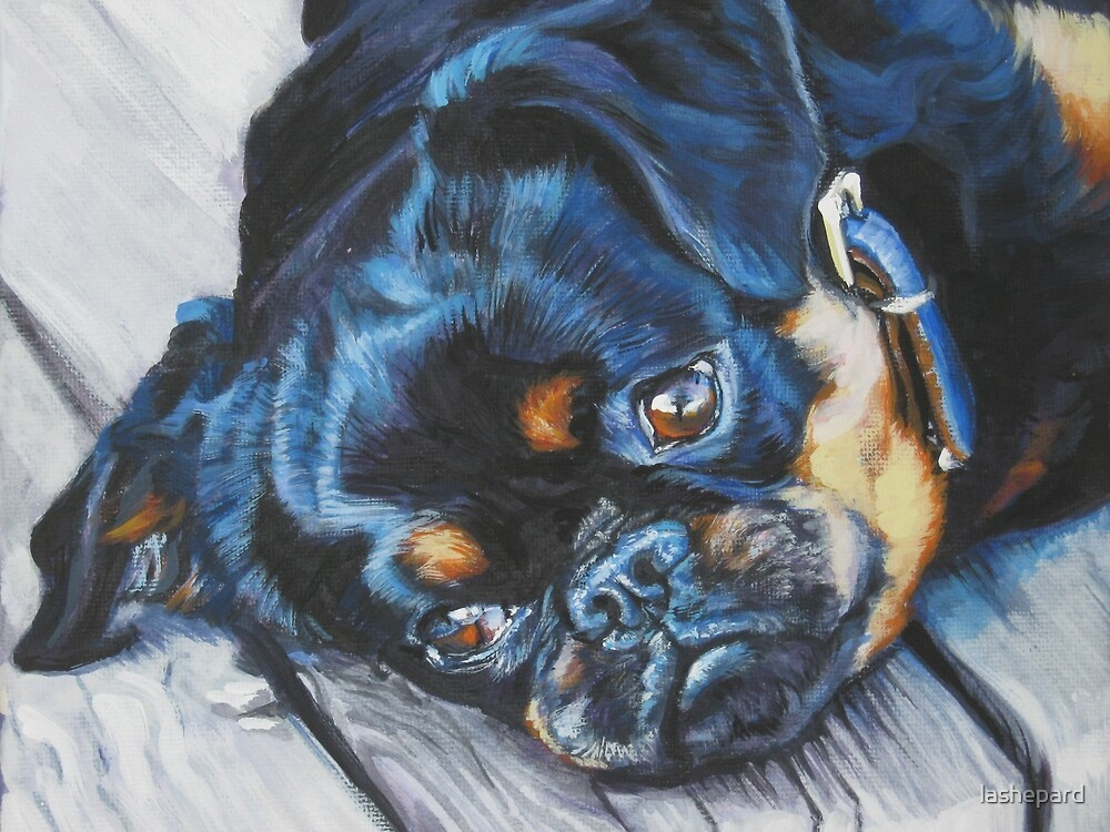 Brussels Griffon Fine Art Painting by lashepard