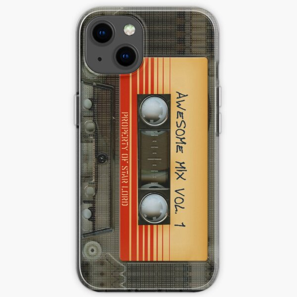 Awesome transparent mix cassette tape volume 1 iPhone Soft Case